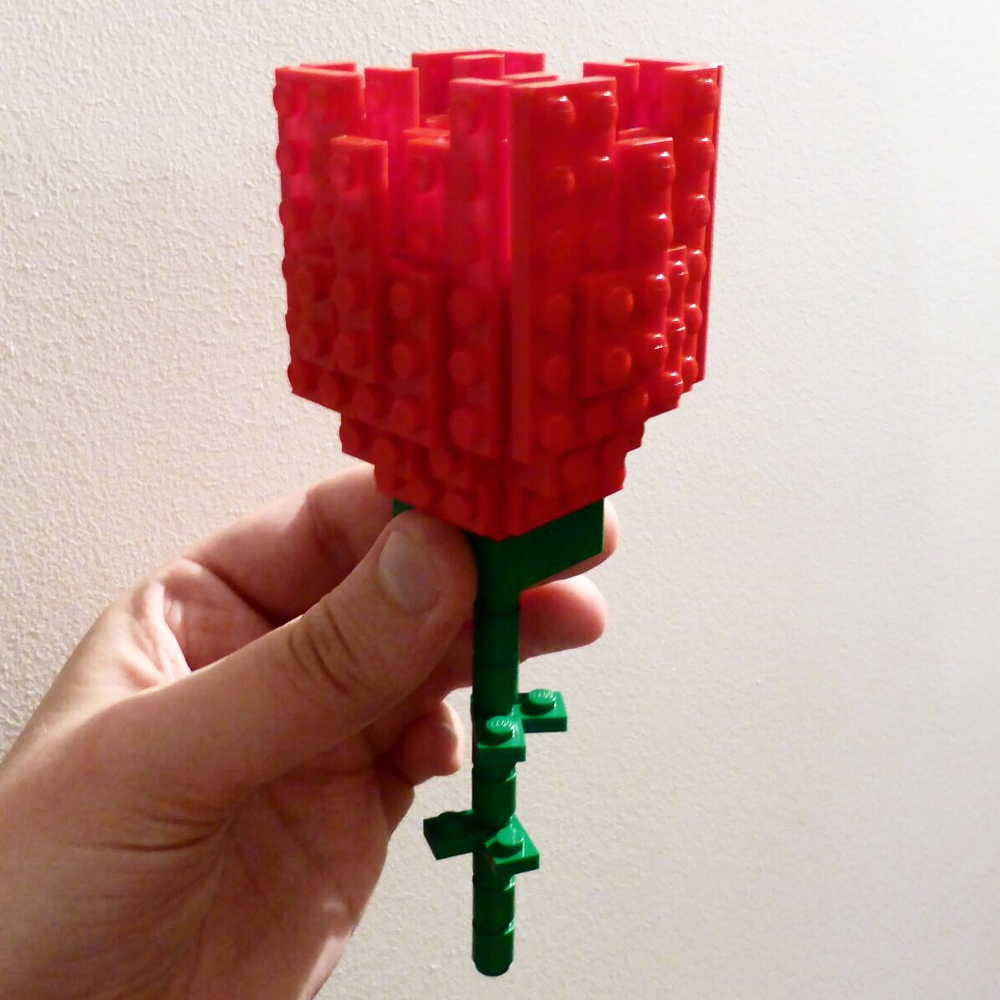 Perfecting The Lego Rose For The Wedding Brick Twist